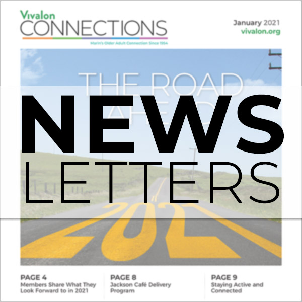 Cover of Newsletter overlaid with the word Newsletters